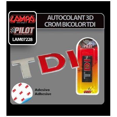 Emblema 3D Crom bicolor TDI