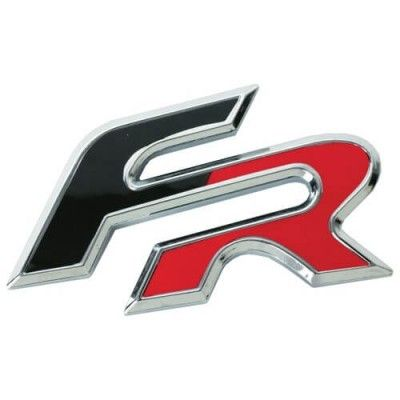Emblema 3D crom bicolor - FR