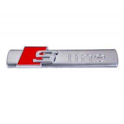 Emblema S-Line Crom Mat 3D