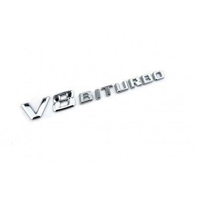 Emblema V8 Biturbo Crom
