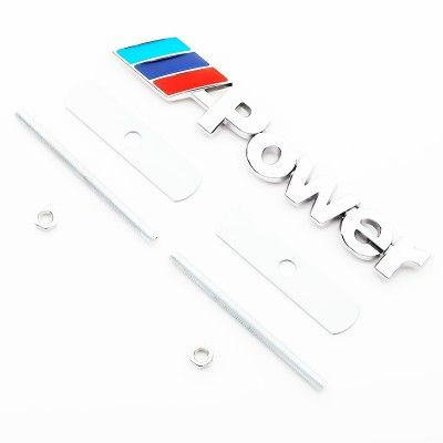 Emblema MPower Grila Crom