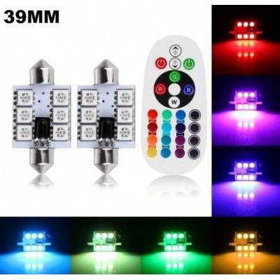 Set Led Plafoniera RGB cu telecomanda