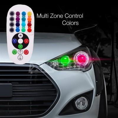 Set 2 Becuri Pozitie RGB cu Telecomanda