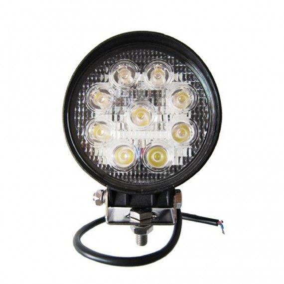 Proiector LED Auto Offroad 27W/12V-24V, 1980 Lumeni, Rotund, Spot Beam 30 Grade