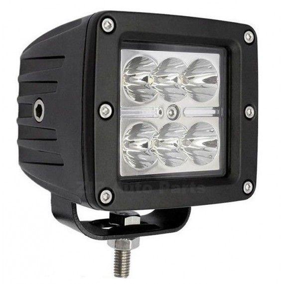 Proiector LED Auto Offroad 18W/12V-24V, Patrat, 1320 Lumeni, Flood Beam 90 Grade