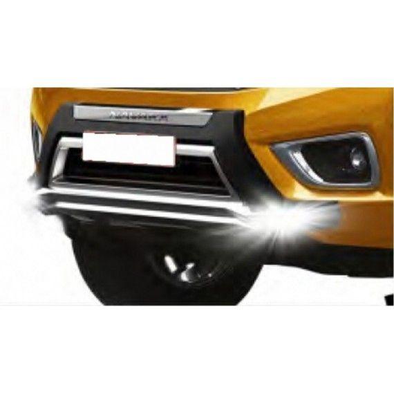 Bullbar poliuretan tip OEM cu DRL Nissan Navara NP300 2015, 2016, 2017 NSA168