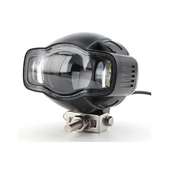 Proiector LED ATV, Moto putere 20W, 2000 Lm, cu incarcator USB si suport de bara