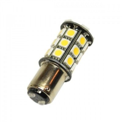 Led auto BA15D 27 SMD cu dubla intensitate si pini simetrici