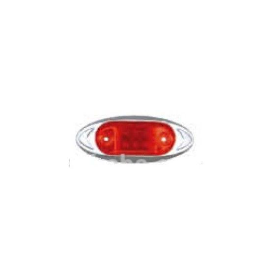 Lampa laterala cu LED 24V Rosie 541R24V