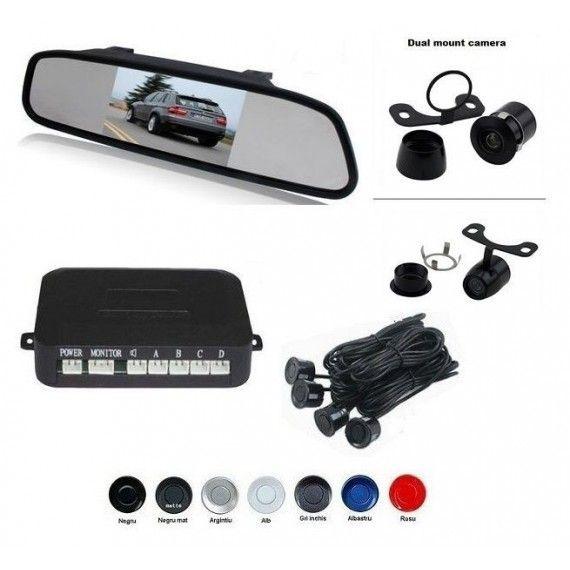 Senzori parcare cu camera video si display LCD de 4.3 inch in oglinda S604