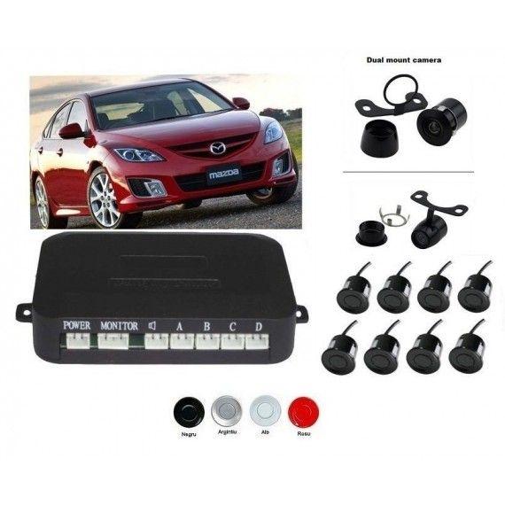 Senzori parcare fata spate cu camera video fata (nu este inclusa) si camera video marsarier (inclusa) fara display S600-8