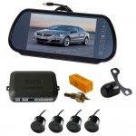 Senzori parcare cu camera video si display LCD de 7 inch in oglinda S608