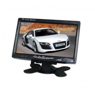 Display auto LCD 7 inch 12V - 24V D707 cu telecomanda si rama montaj perete