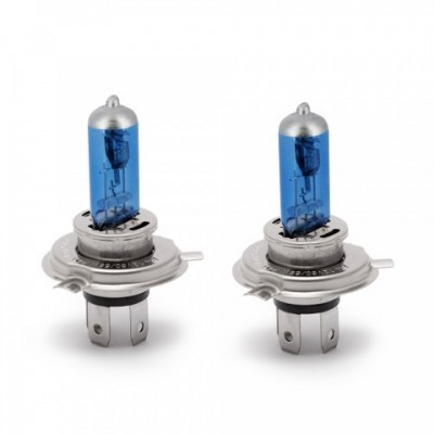 Set Becuri Halogen H4 - 100/90W + 110% intensitate Alb Xenon