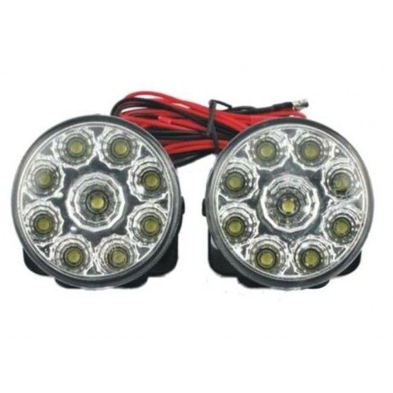 Lumini de zi rotunde 9 led-0,5W 12V