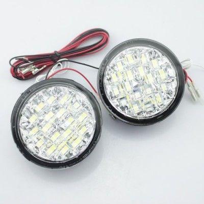 Lumini de zi rotunde 18 led-0,5W 12V - Off when headlight on