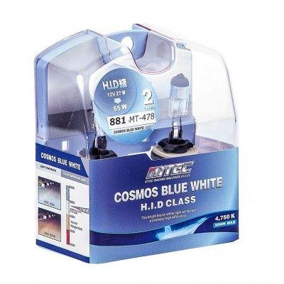 SET 2 BECURI AUTO H27 881 MTEC COSMOS BLUE WHITE - XENON EFFECT