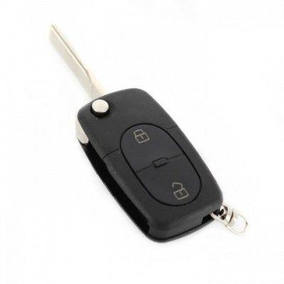 Carcasă cheie tip briceag - 2+1 butoane - Auditip mare, cu buton panică, pt. baterie 2032
