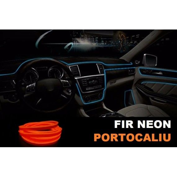 Fir Neon Portocaliu - Lungime 5M
