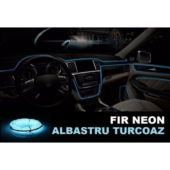 Fir Neon Albastru Turcoaz- Lungime 2M