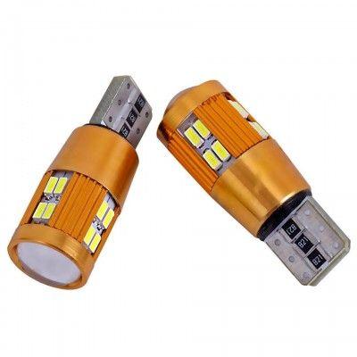 Set 2 Becuri LED T10 Canbus 22SMD cu Lupa