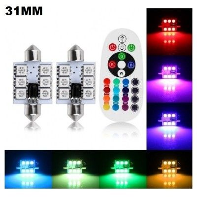 Set Led Plafoniera (Sofit) 31MM 6SMD RGB