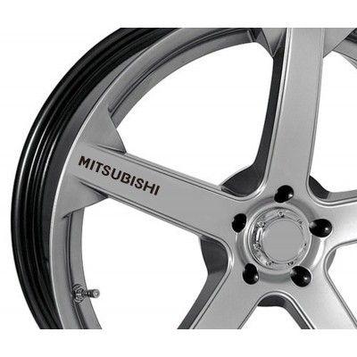Sticker jante - Mitsubishi (set 4 buc.)