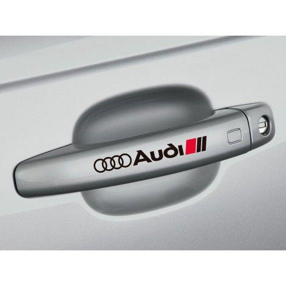 Sticker manere usa - Audi (set 4 buc.)