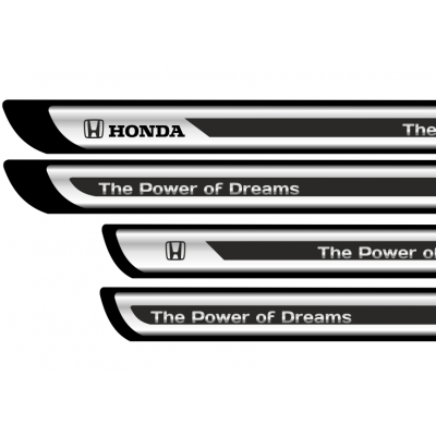 Set protectii praguri CROM - Honda