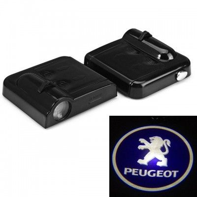 Set Proiectoare Led Logo Universale Peugeot
