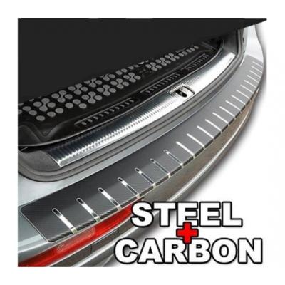Protectie portbagaj - Crom si Carbon Negru