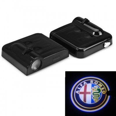 Set Proiectoare Led Logo Universale Alfa Romeo