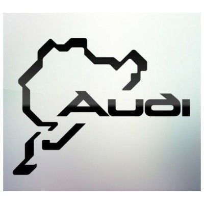 Sticker auto geam Audi