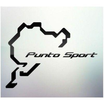 Sticker auto geam Punto Sport