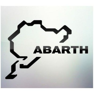 Sticker auto geam Abarth