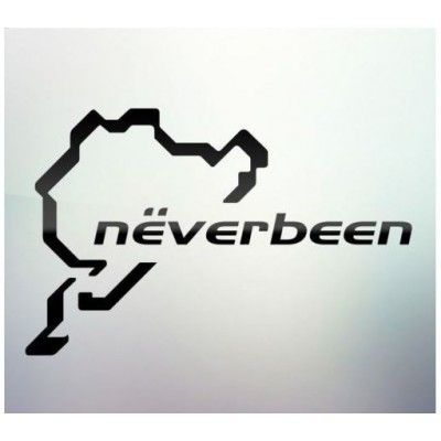 Sticker auto geam Neverbeen