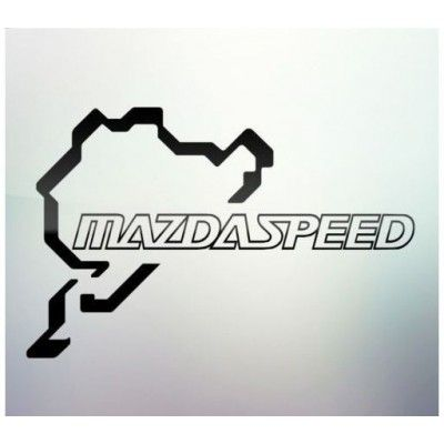 Sticker auto geam Mazda Speed
