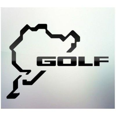 Sticker auto geam Golf