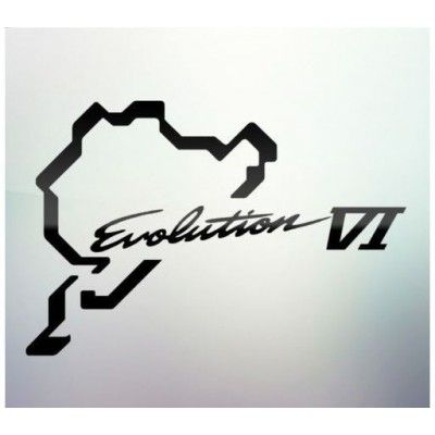 Sticker auto geam Evolution VI