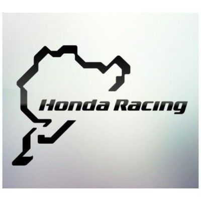 Sticker auto geam Honda Racing