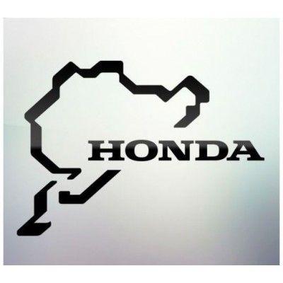 Sticker auto geam Honda