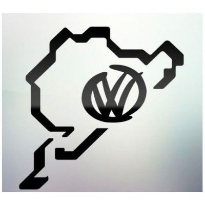 Sticker auto geam VW logo