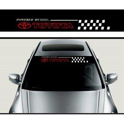 Sticker parasolar auto Toyota Flag