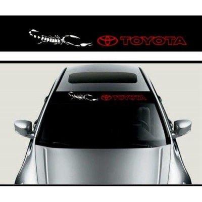 Sticker parasolar auto Toyota