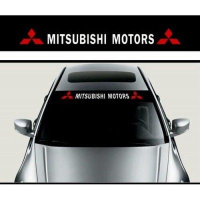 Sticker parasolar auto Mitsubishi