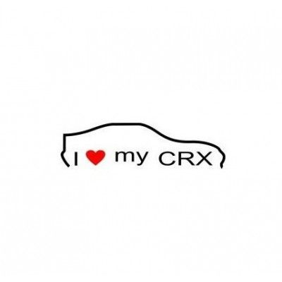 Stickere auto I love my Honda CRX  (v1)