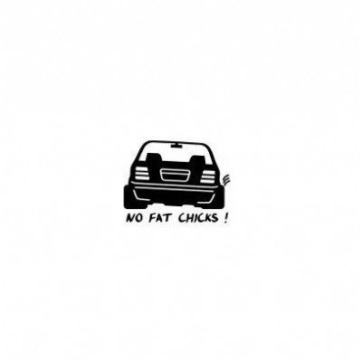 Stickere auto Silueta No Fat Chicks