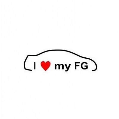 Stickere auto I love my Honda FG