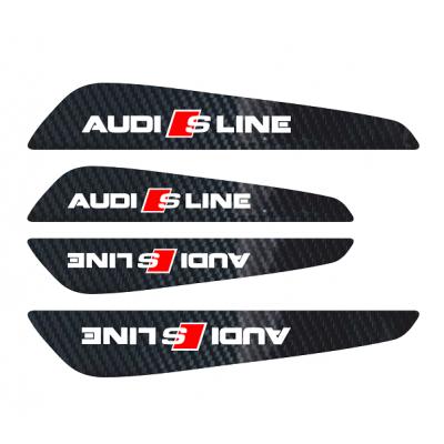 Set protectii usi Carbon 5D - Audi S-line