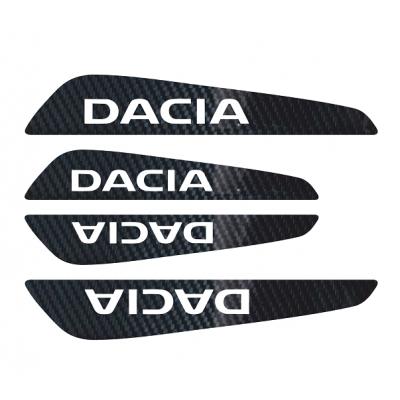 Set protectii usi Carbon 5D - Dacia